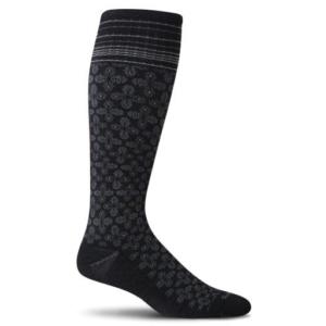 Sockwell floral pindot zwart dames